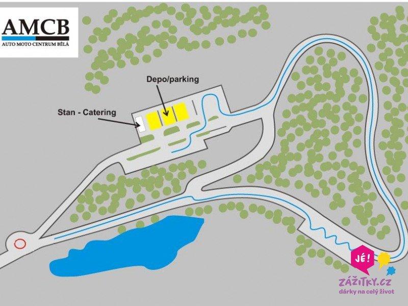 zážitková jízda rallye - mapa