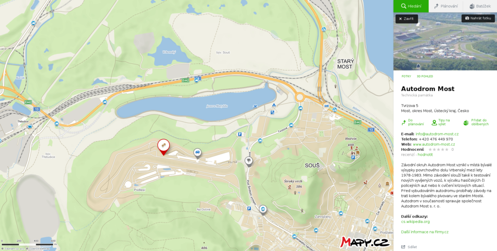 Mapa Most