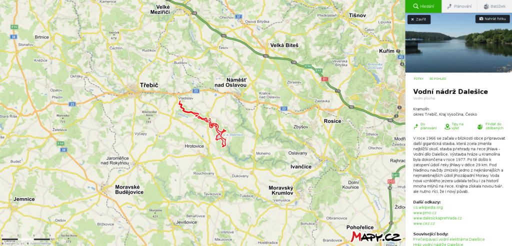 Mapa Hartvíkovice Jetpack