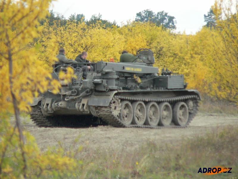 Jízda tankem VT55 v Milovicích
