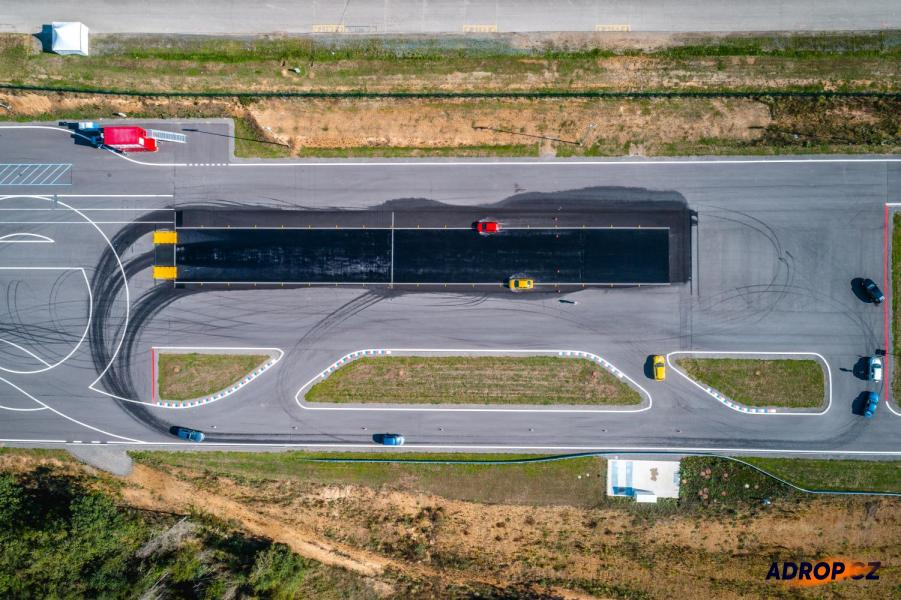 Letecký pohled na polygon v Brně