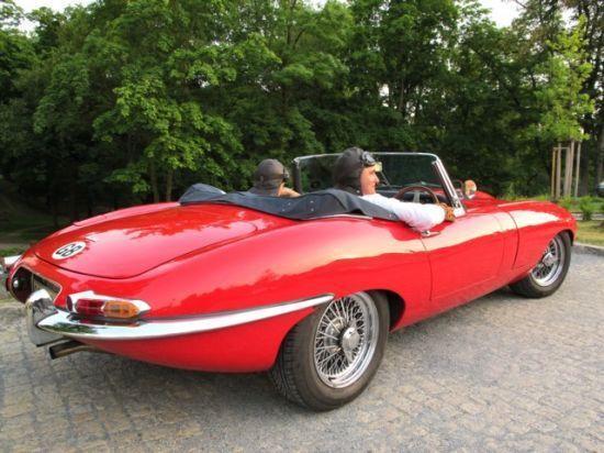 zážitková jízda v Jaguar E-type